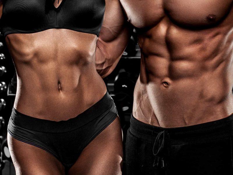 Female and male torsos